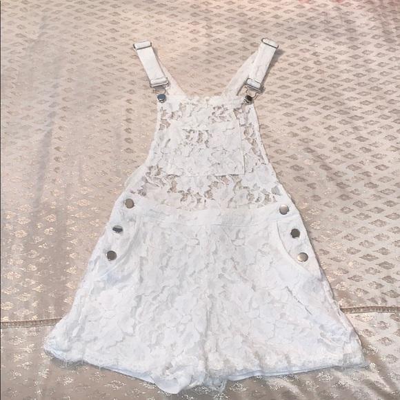 Signature8 Pants - Signature8 White Lace Overalls